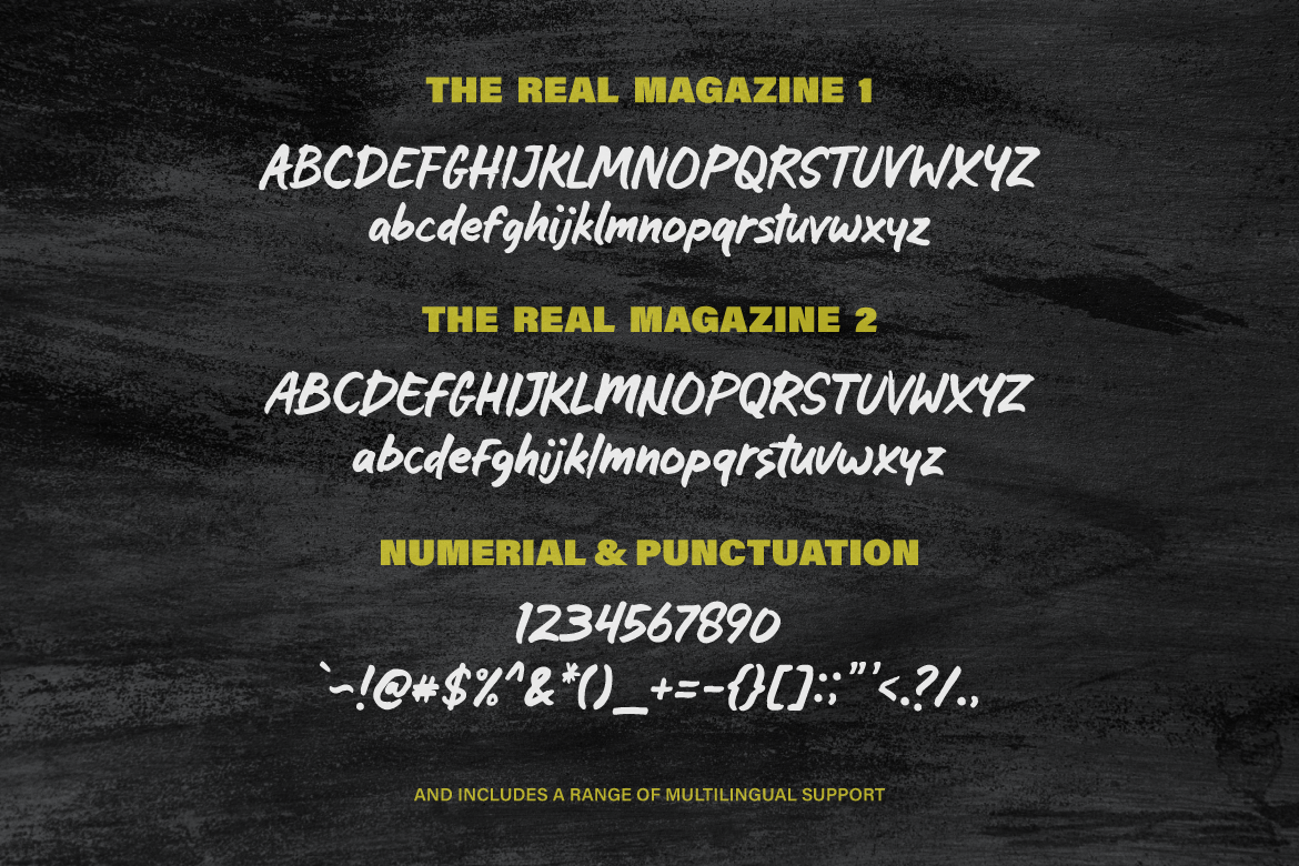 Print on Demand: The Real Magazine Script & Handwritten Font By Typia Nesia - Image 7