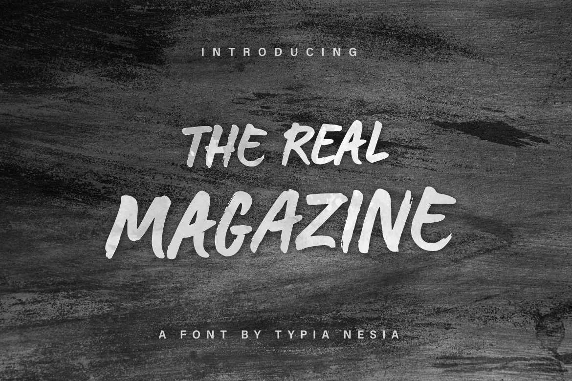 Print on Demand: The Real Magazine Script & Handwritten Font By Typia Nesia