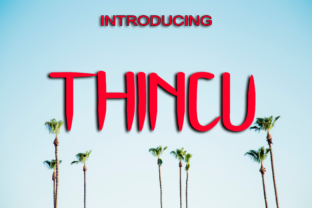 Thincu Font By Boombage