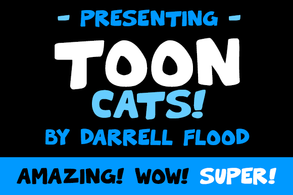 Print on Demand: Toon Cats Display Font By Dadiomouse