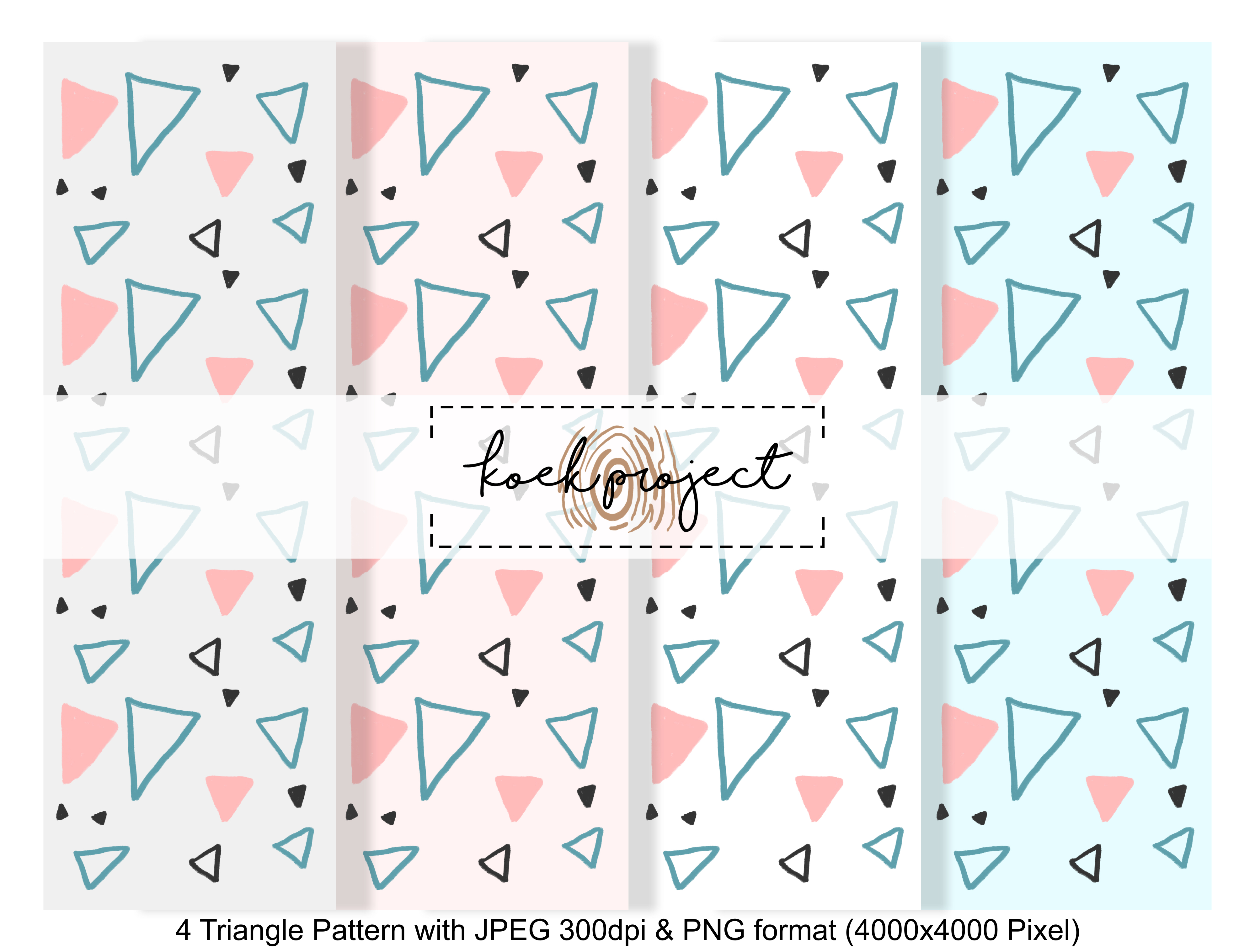 Triangle Pattern Pack Graphic Patterns By koekprojects