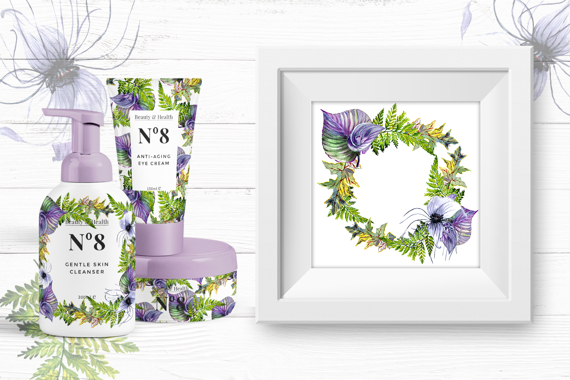 Print on Demand: Tropical Flowers PNG Watercolor Set Graphic Illustrations By MyStocks - Image 2