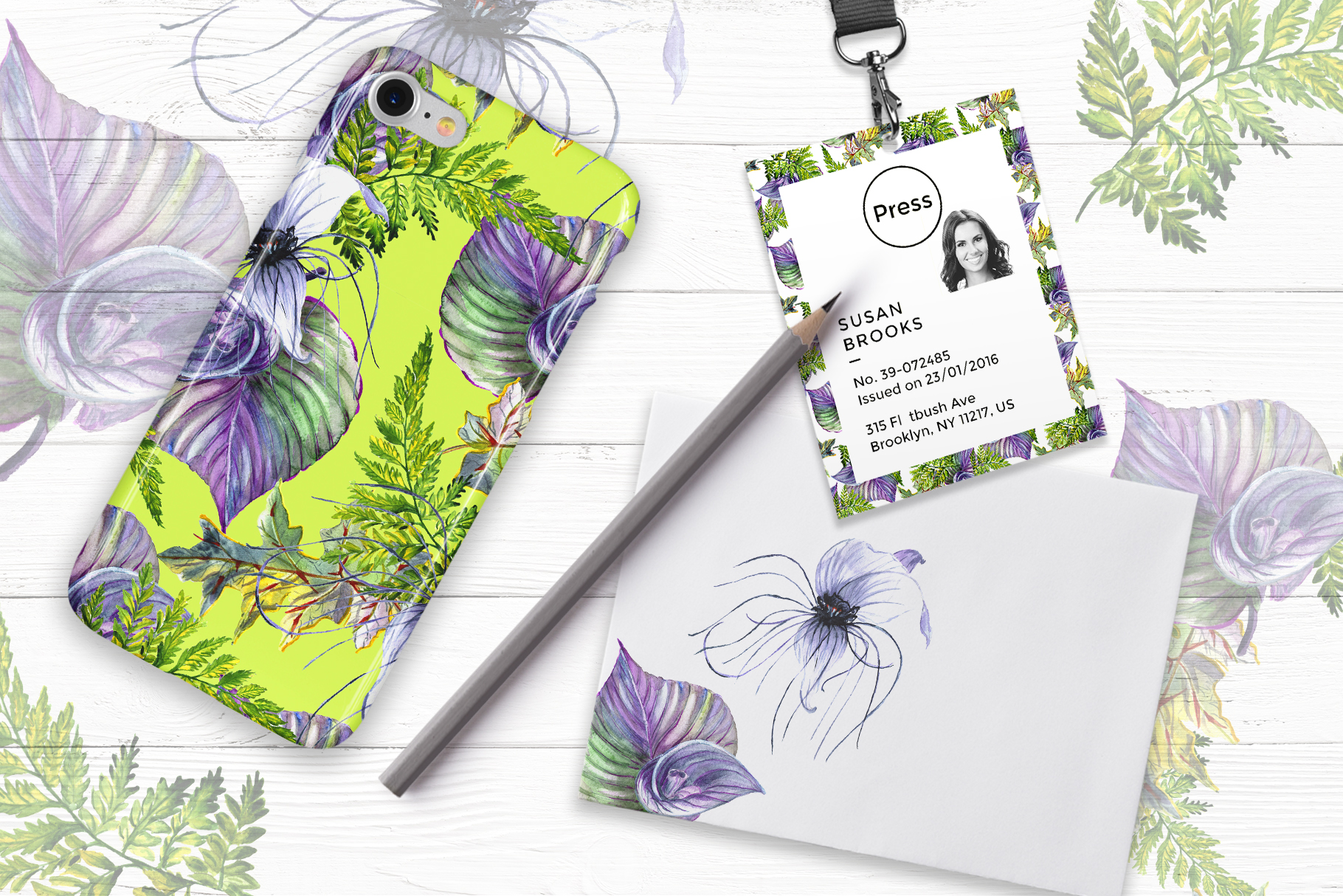 Print on Demand: Tropical Flowers PNG Watercolor Set Graphic Illustrations By MyStocks - Image 3