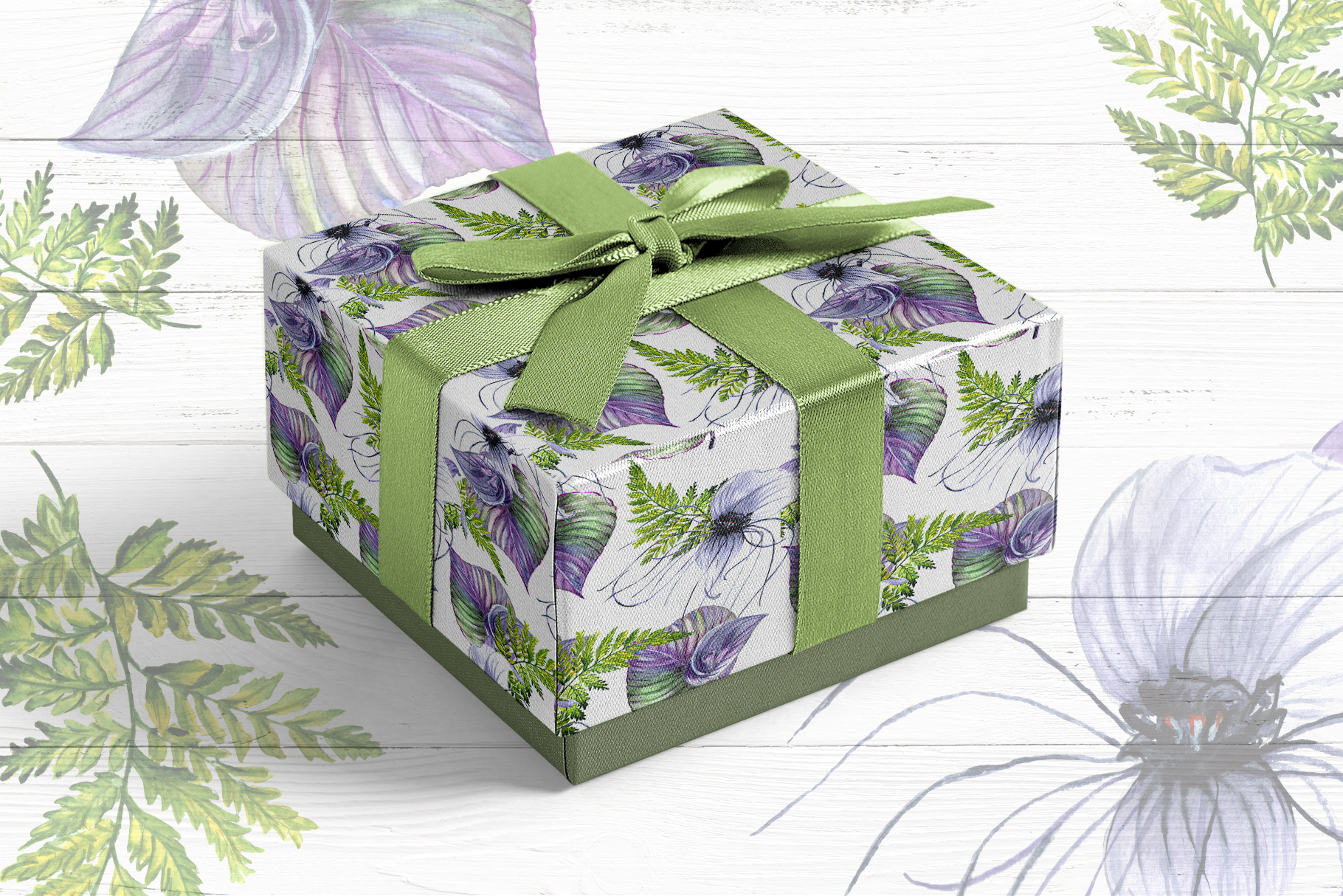 Print on Demand: Tropical Flowers PNG Watercolor Set Graphic Illustrations By MyStocks - Image 6