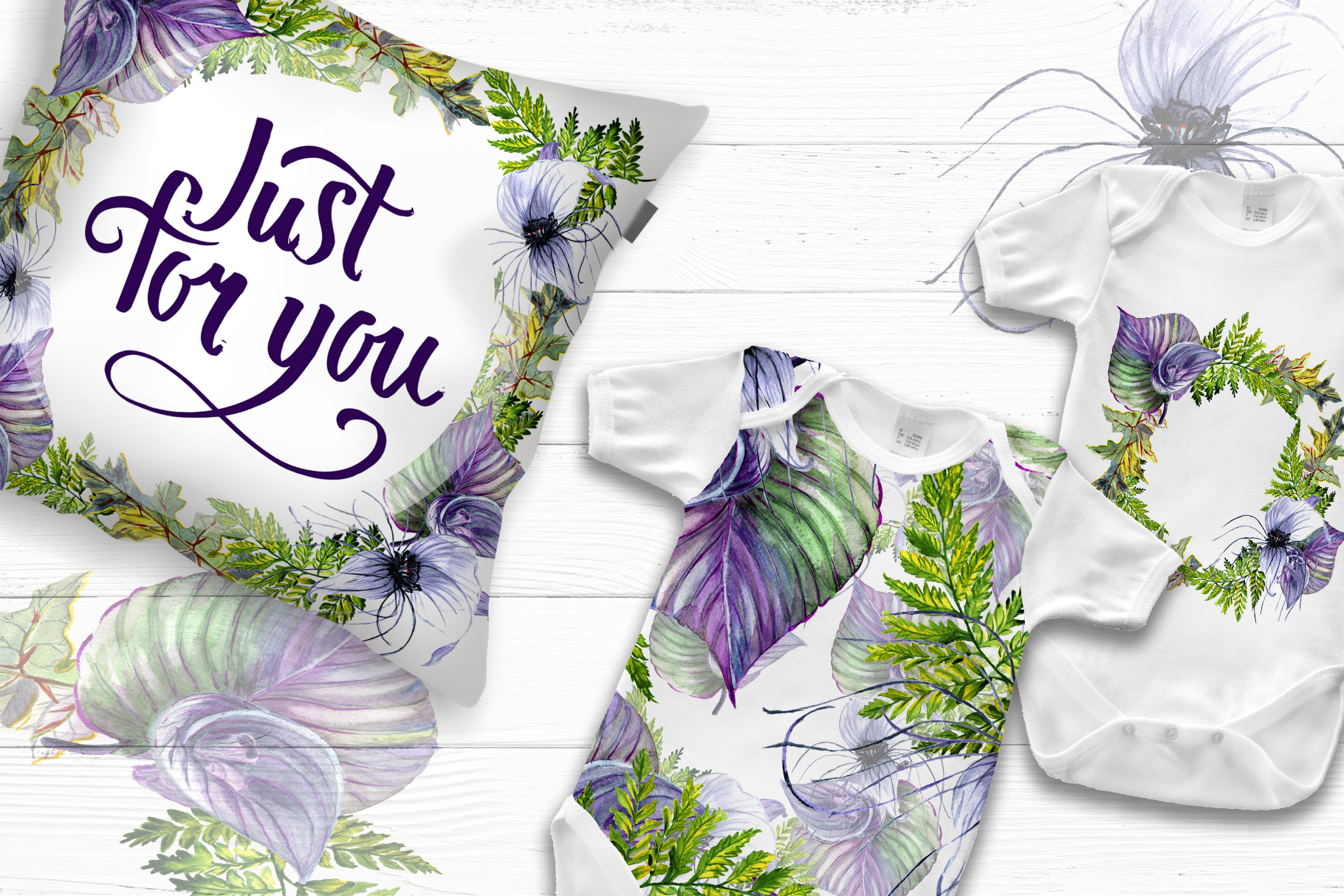 Print on Demand: Tropical Flowers PNG Watercolor Set Graphic Illustrations By MyStocks - Image 7