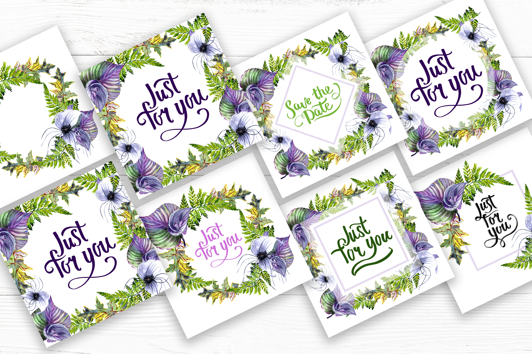 Print on Demand: Tropical Flowers PNG Watercolor Set Graphic Illustrations By MyStocks - Image 8