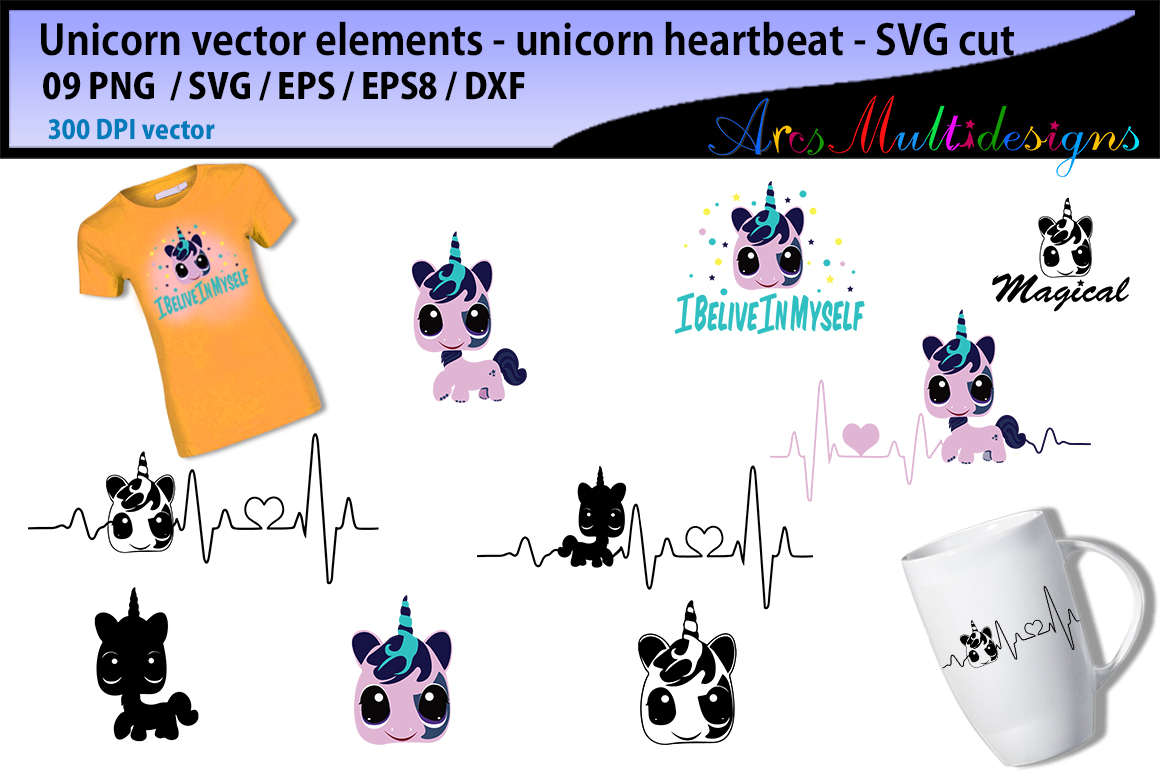 Print on Demand: Unicorn Heartbeat Graphics and Illustration Graphic Illustrations By Arcs Multidesigns