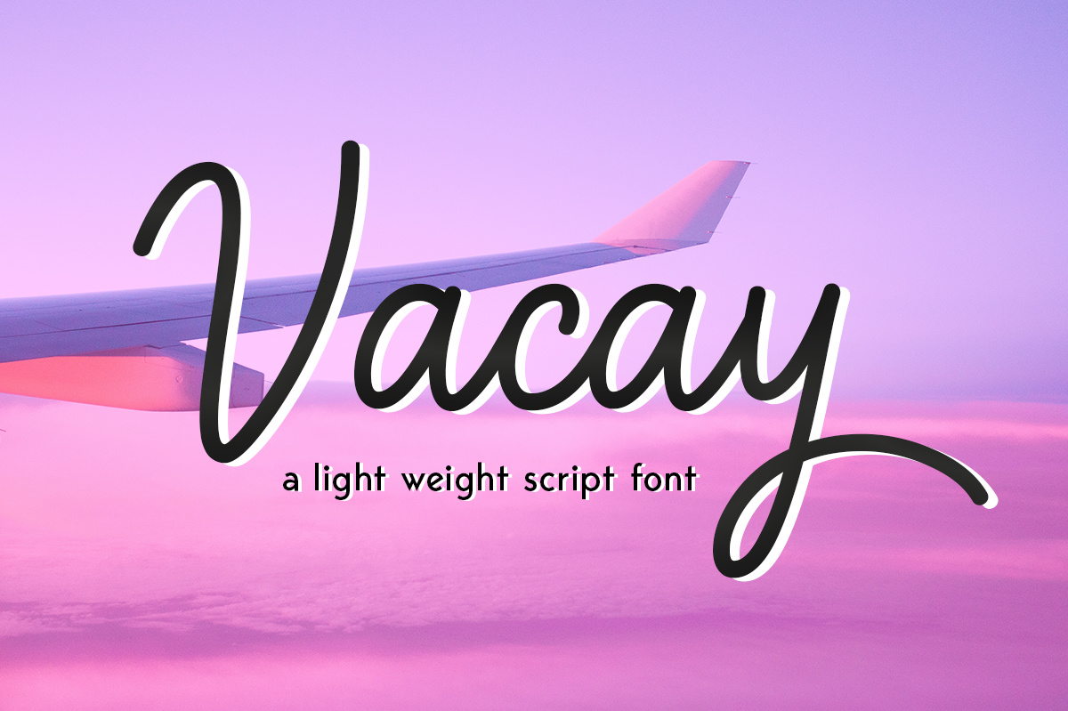 Print on Demand: Vacay Script & Handwritten Font By Silhouette America, Inc.