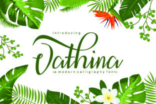 Print on Demand: Vathina Script & Handwritten Font By afredo.fk