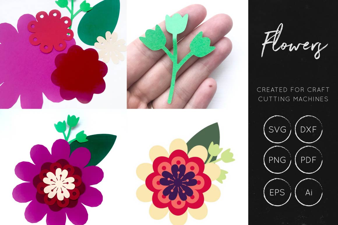 Print on Demand: Vector Flowers SVG Bundle Collection Graphic Crafts By illuztrate - Image 2