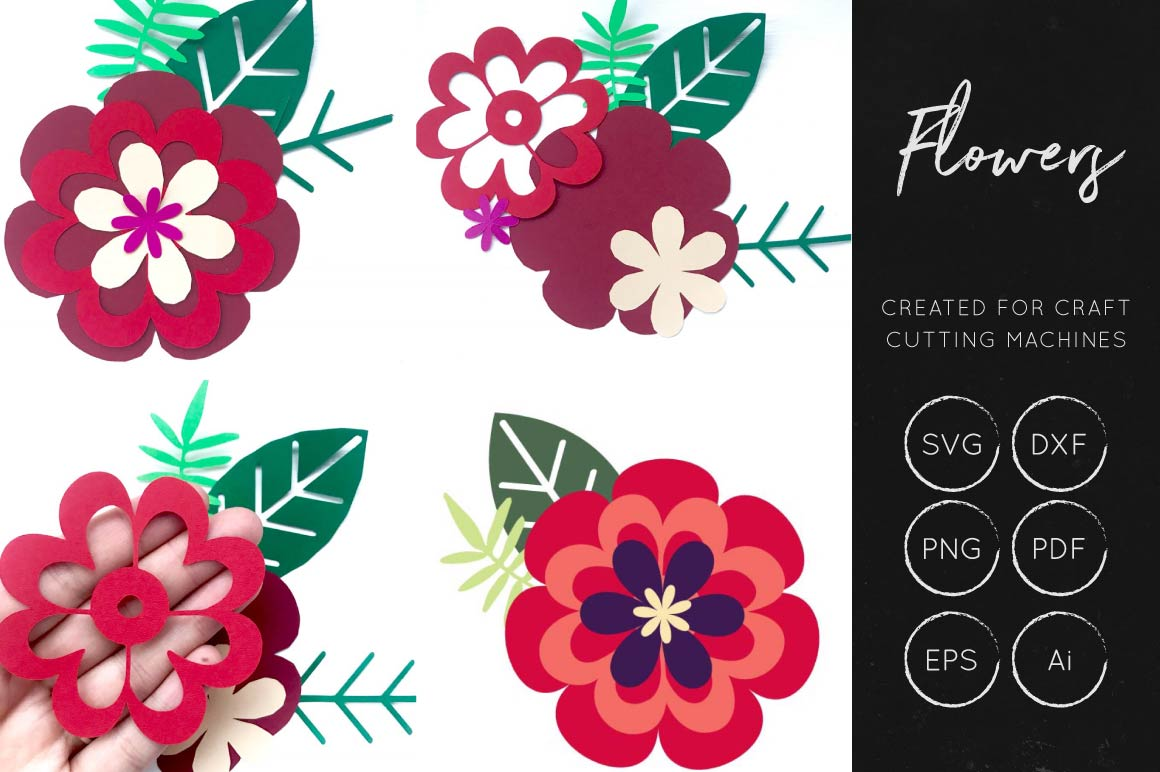 Print on Demand: Vector Flowers SVG Bundle Collection Graphic Crafts By illuztrate - Image 5