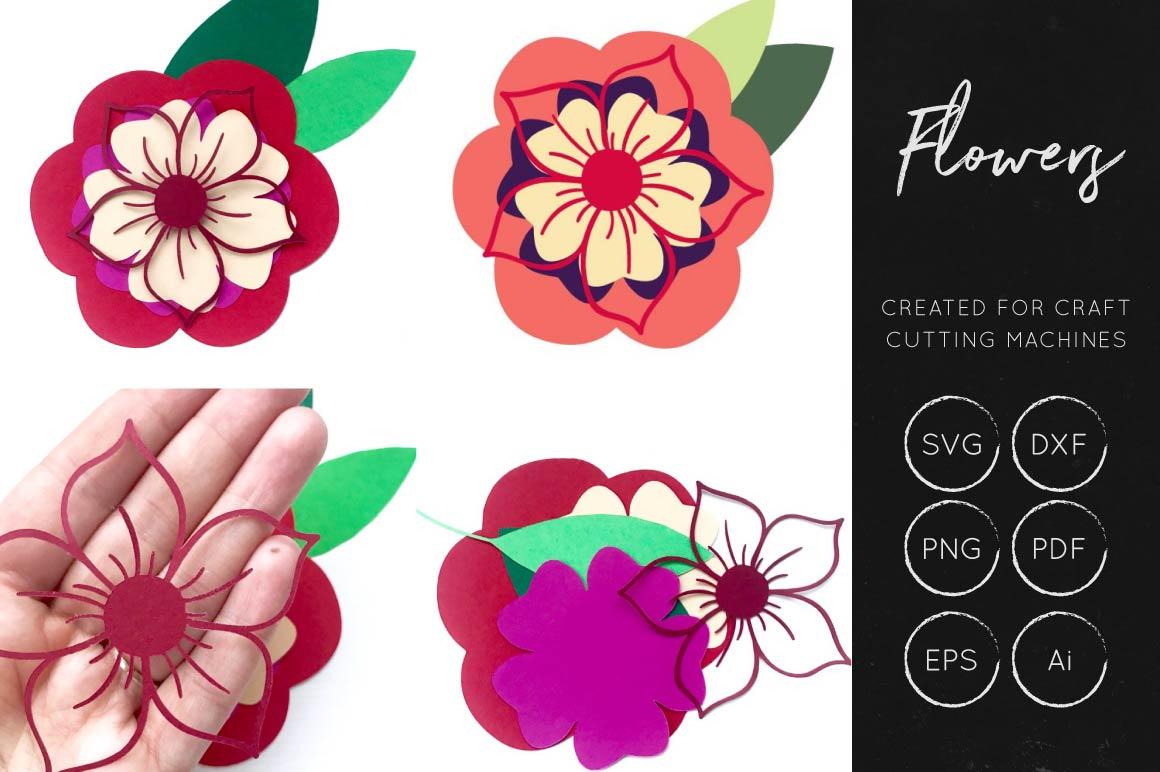 Print on Demand: Vector Flowers SVG Bundle Collection Graphic Crafts By illuztrate - Image 6