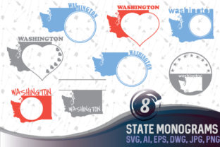 Download Free Washington Dc Monograms Washington State Svg Clipart Monogram for Cricut Explore, Silhouette and other cutting machines.