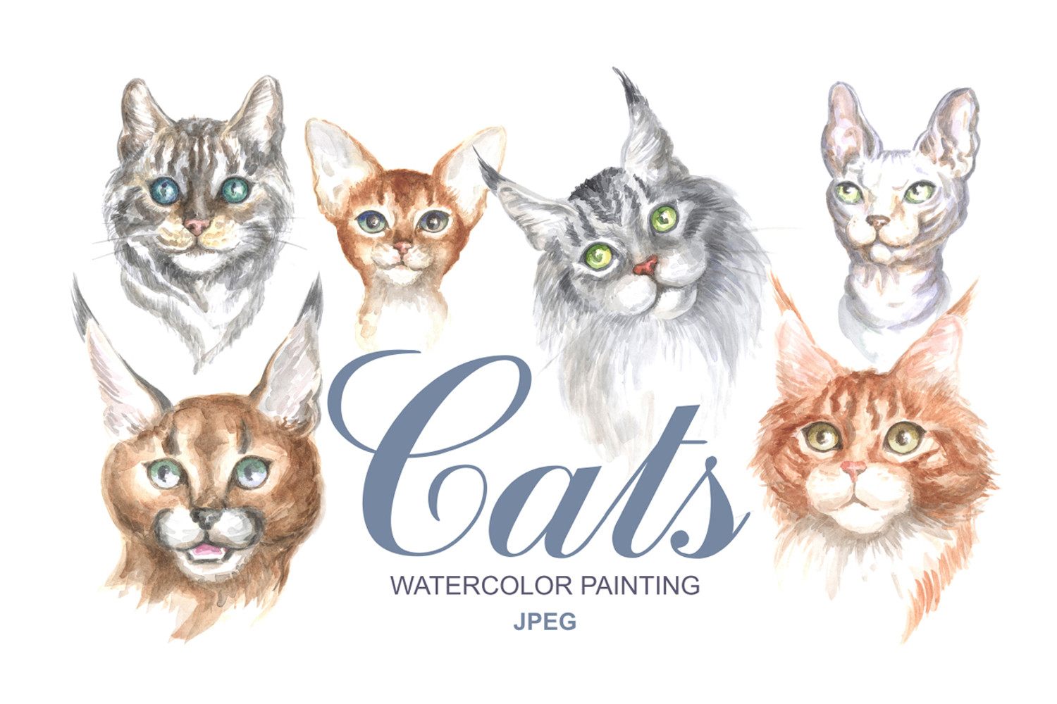 Watercolor Cats Graphic By Olga Belova