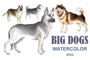 Watercolor Dogs Graphic By Olga Belova