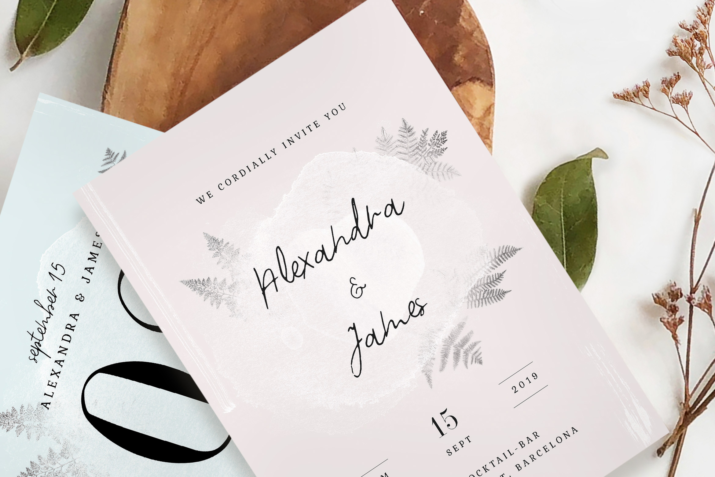 Download Free Nude Terracotta Foliage Wedding Suite Graphic By Blue Robin for Cricut Explore, Silhouette and other cutting machines.