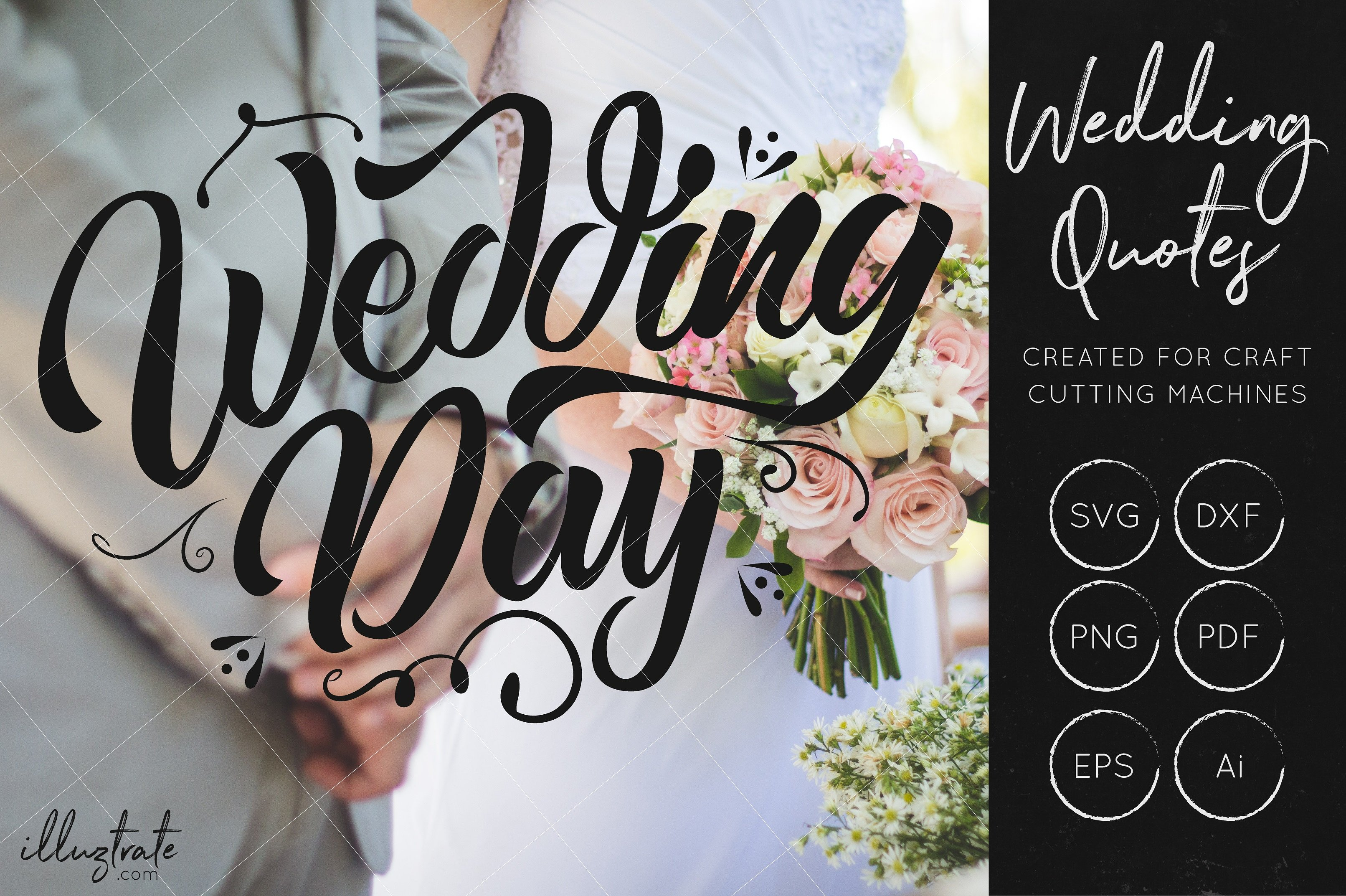 Print on Demand: Wedding Day SVG Cut File Graphic Crafts By illuztrate