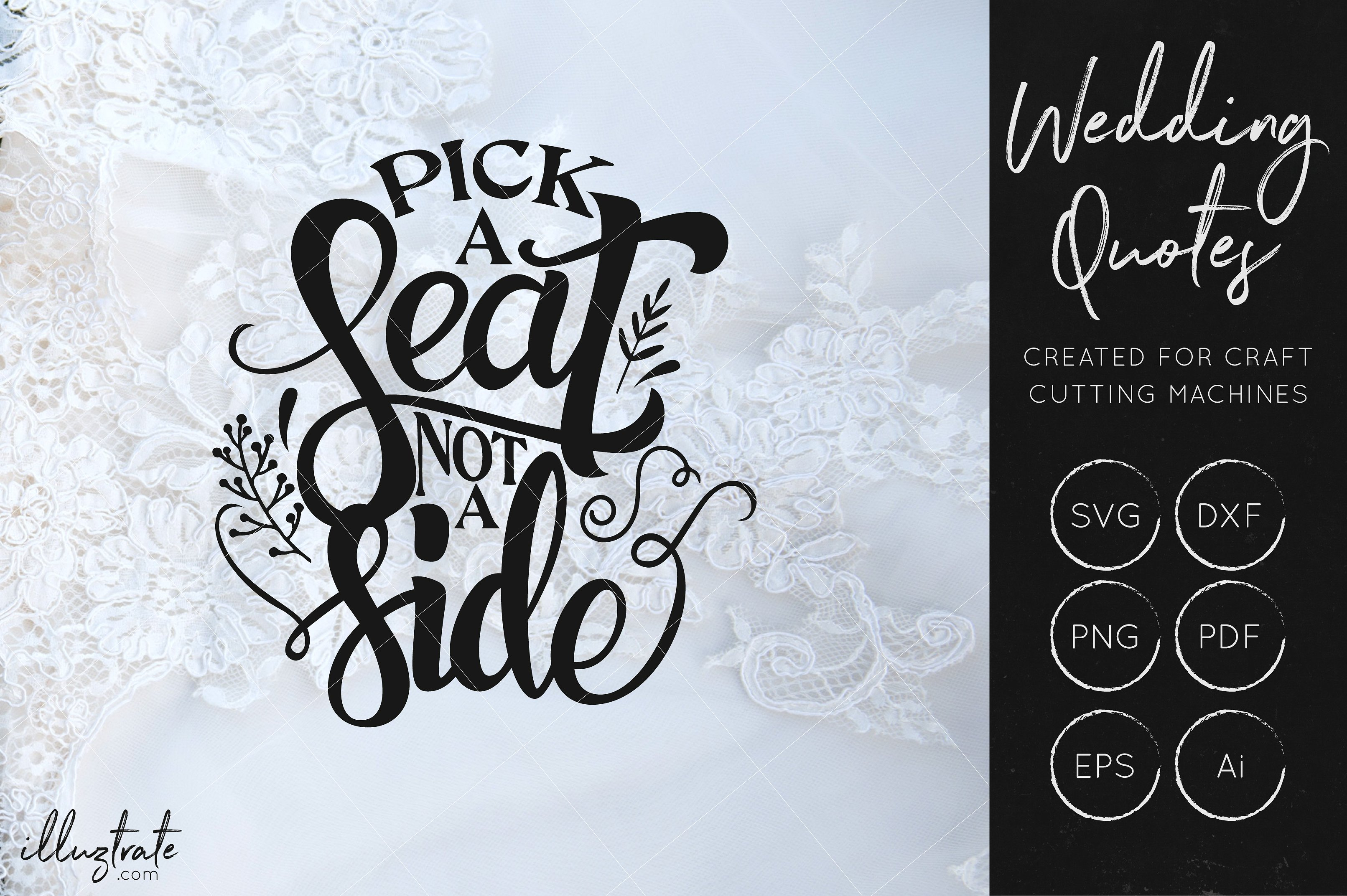 Print on Demand: Wedding Quotes Bundle Graphic Crafts By illuztrate - Image 10