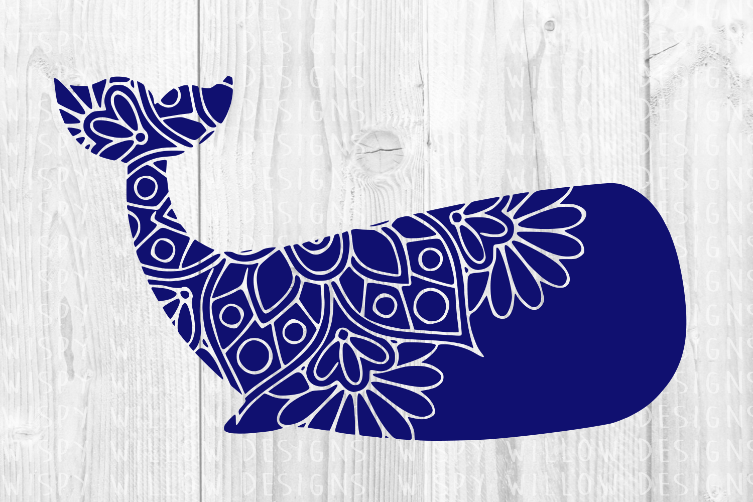 Download Free Whale Mandala Animal Graphic By Wispywillowdesigns Creative for Cricut Explore, Silhouette and other cutting machines.