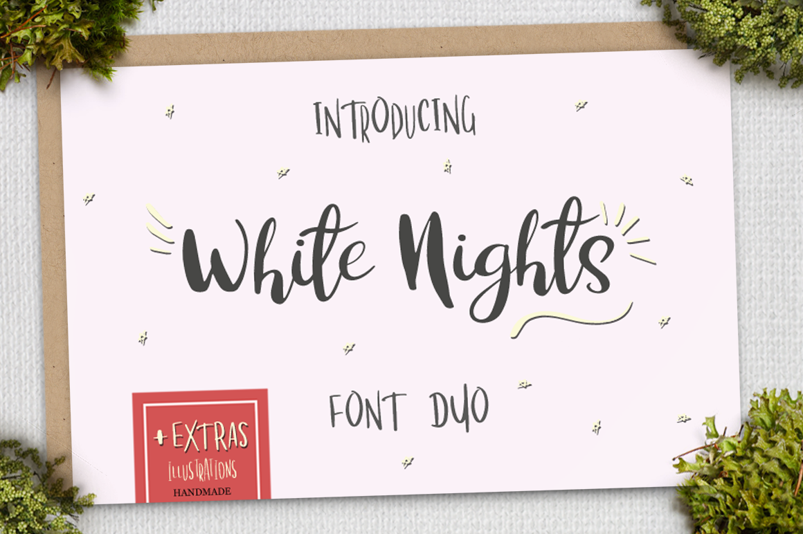 Print on Demand: White Nights Script & Handwritten Font By Pasha Larin