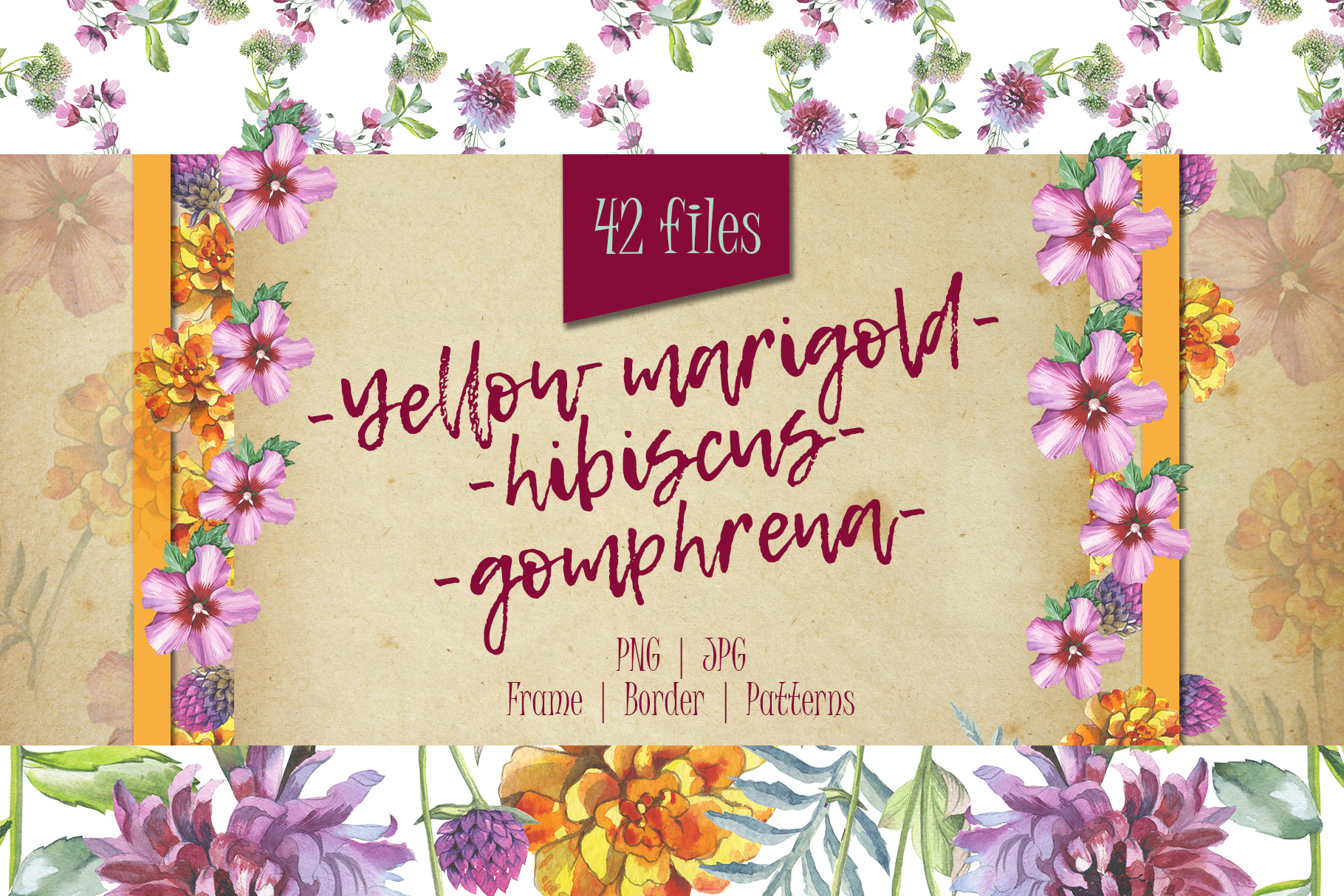 Download Free Wildflower Watercolor Set Graphic By Mystocks Creative Fabrica for Cricut Explore, Silhouette and other cutting machines.