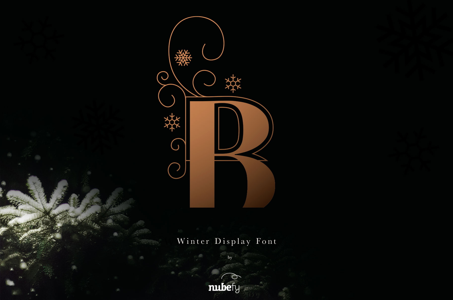 Print on Demand: Winter Color Font Color Fonts Font By nubefy