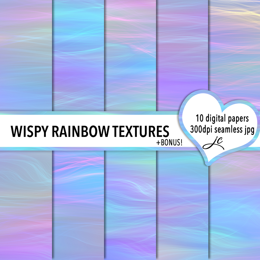 Print on Demand: Wispy Rainbow Textures Graphic Textures By JulieCampbellDesigns