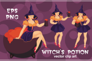 Witch's Potion Vector Clip Art Graphic By Olga Belova
