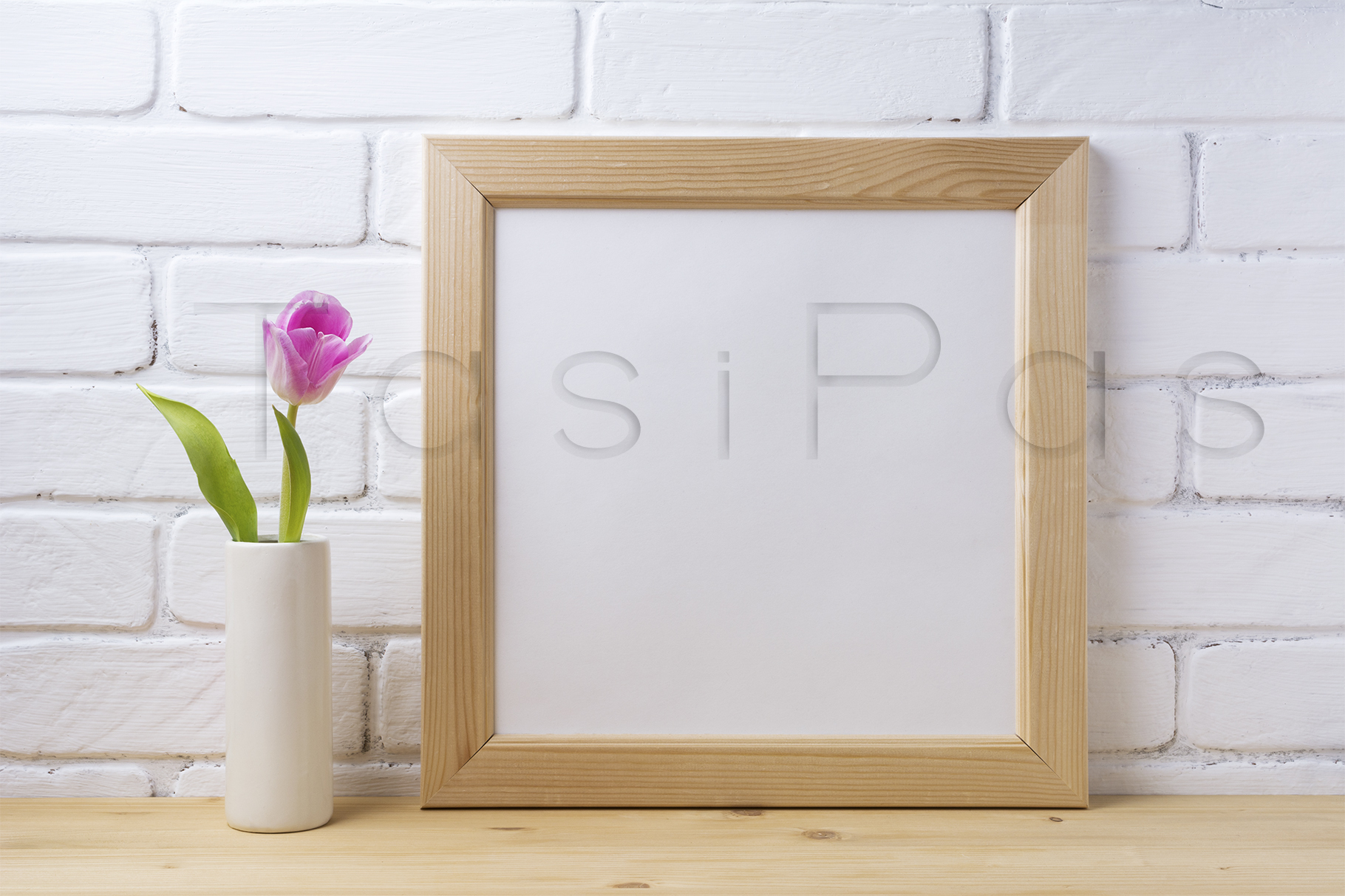 Print on Demand: Wooden Square Frame Mockup Graphic Product Mockups By TasiPas