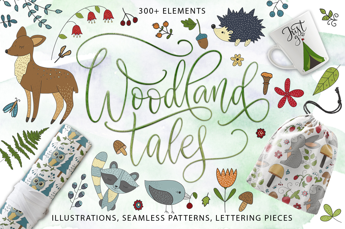 Print on Demand: Woodland Tales Big Graphic Set Graphic Illustrations By Red Ink
