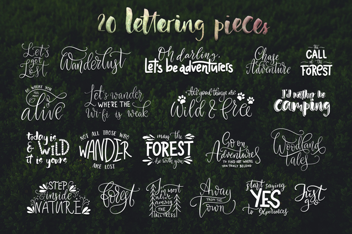 Download Free Woodland Tales Big Graphic Set Graphic By Red Ink Creative Fabrica for Cricut Explore, Silhouette and other cutting machines.