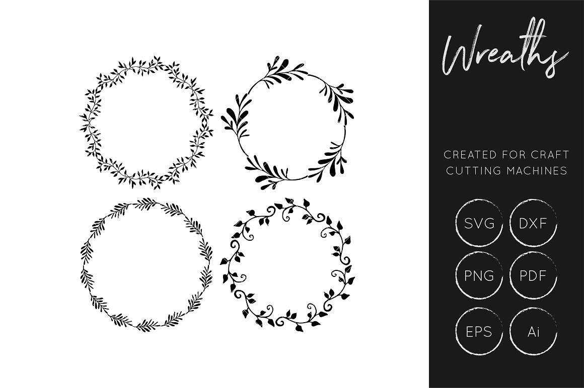 Download Free Wreath Graphic By Illuztrate Creative Fabrica for Cricut Explore, Silhouette and other cutting machines.