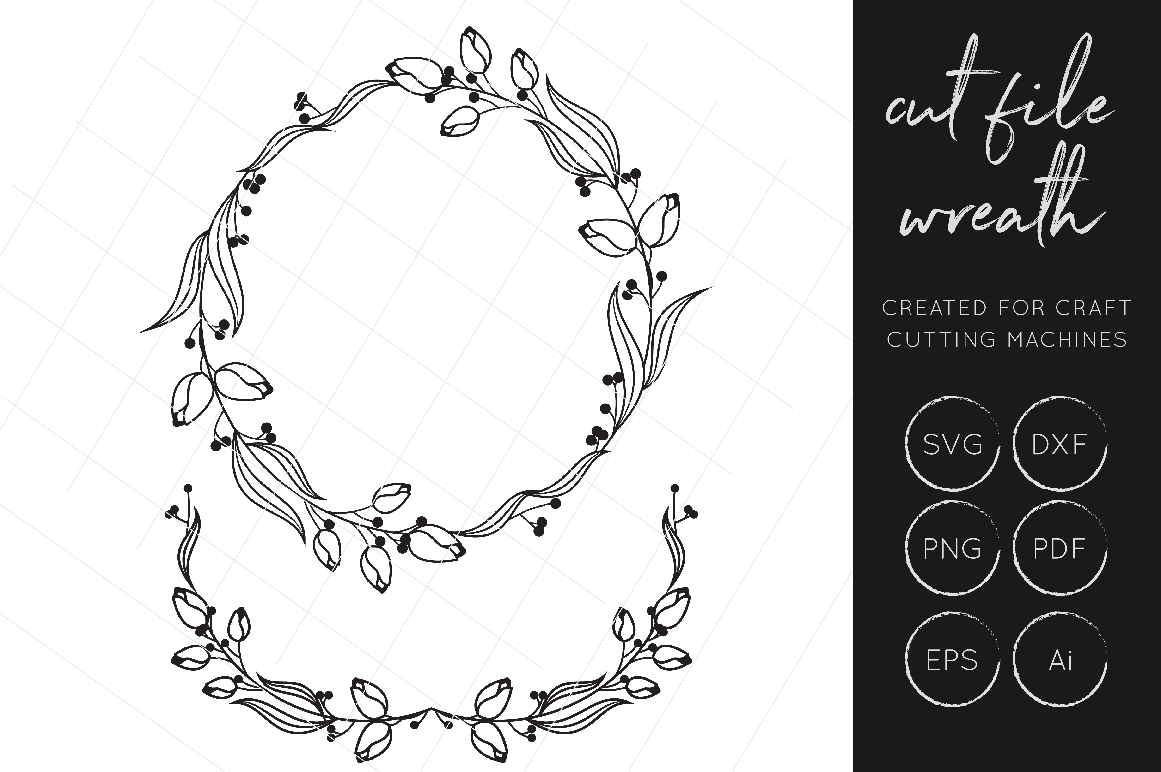 Print on Demand: Wreath SVG, Laurel SVG, Gold Foil, Silver Foil, Wreath Cut Files Graphic Crafts By illuztrate