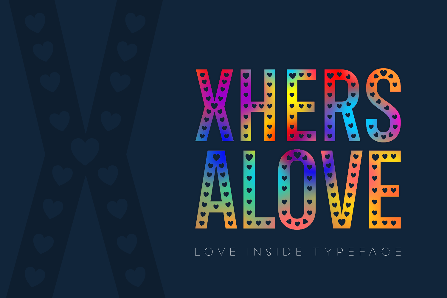 Xhers Alove Display Font By Situjuh