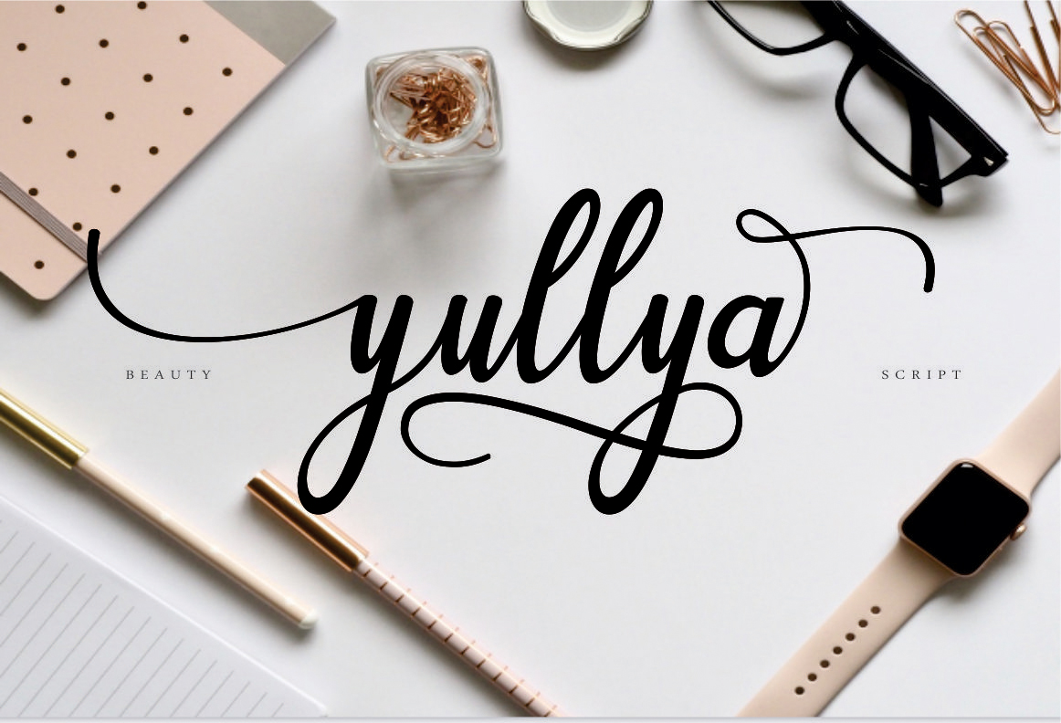 Download Free Yullya Script Font By Ojimstudio Creative Fabrica for Cricut Explore, Silhouette and other cutting machines.