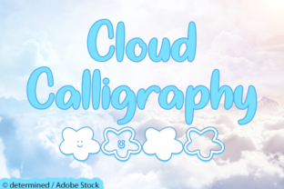Cloud Calligraphy Font By Misti