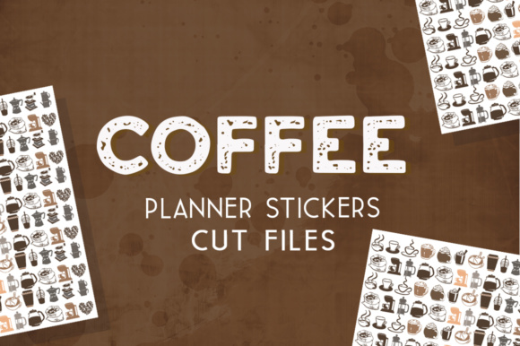 coffee time planner stickers design