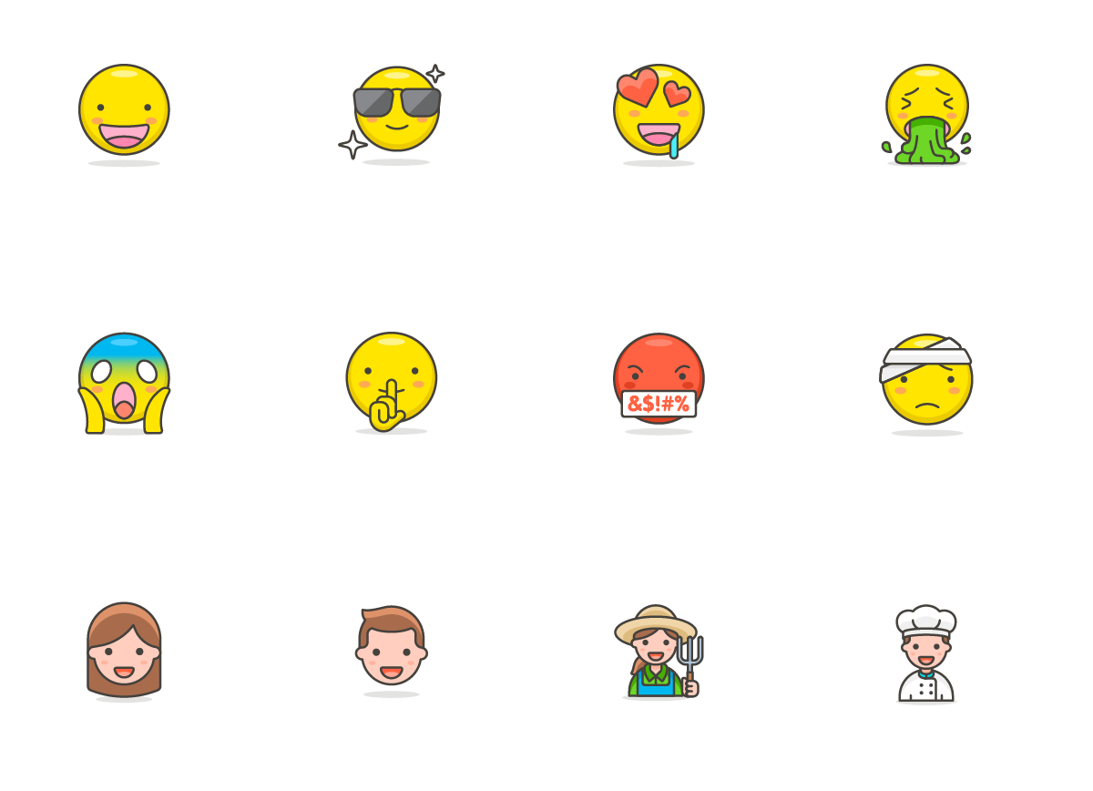780 Free Emojis Graphic Objects By Creative Fabrica Freebies - Image 2