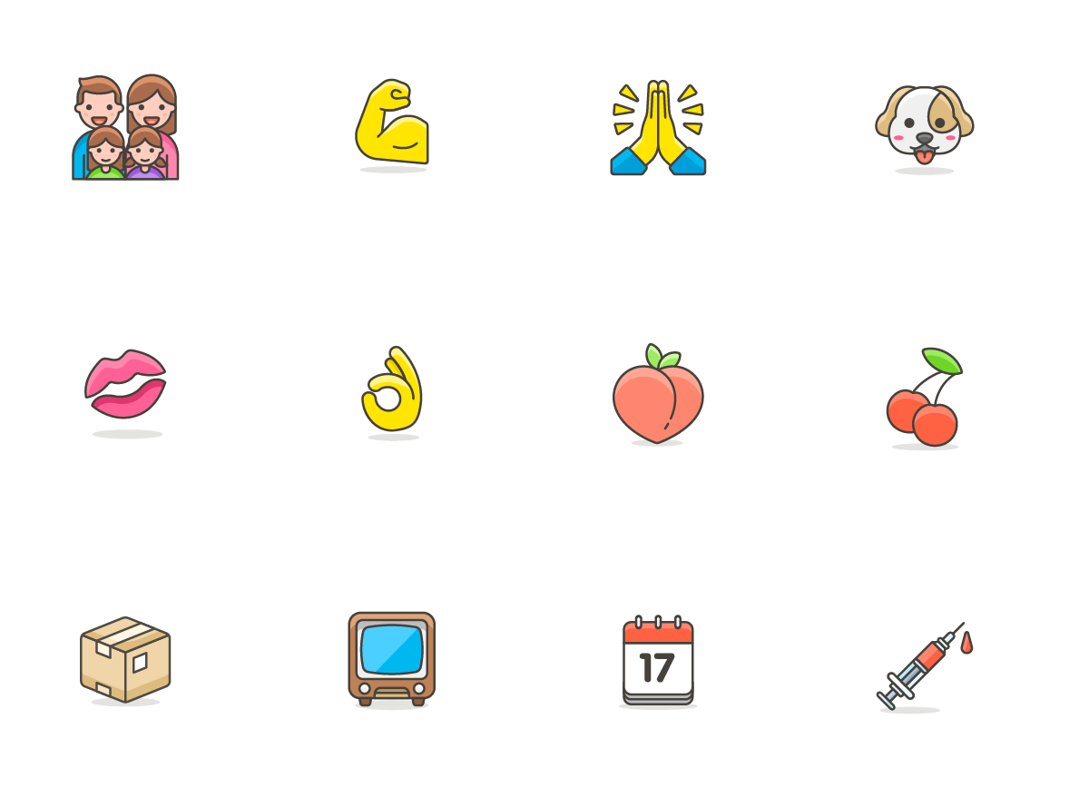 780 Free Emojis Graphic Item