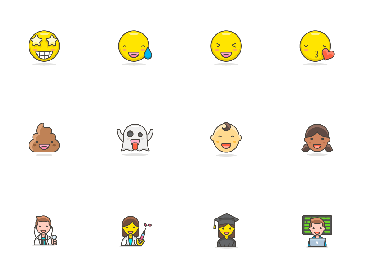 780 Free Emojis Graphic Preview