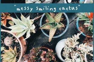 Messy Smiling Cactus Font By kaitalanis