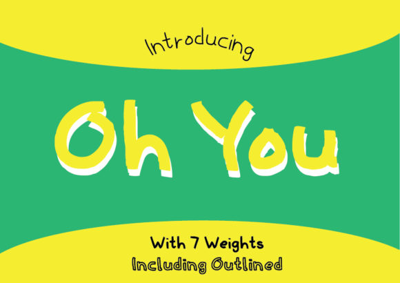 Print on Demand: Oh You Family Script & Handwritten Font By GraphicsBam Fonts