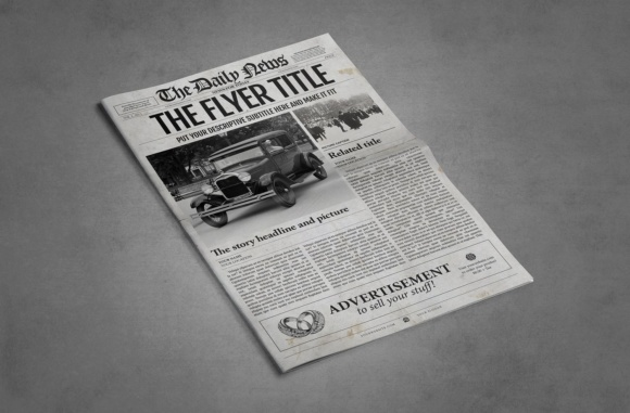 1 Page Newspaper Template Illustrator Graphic By Ted Creative Fabrica