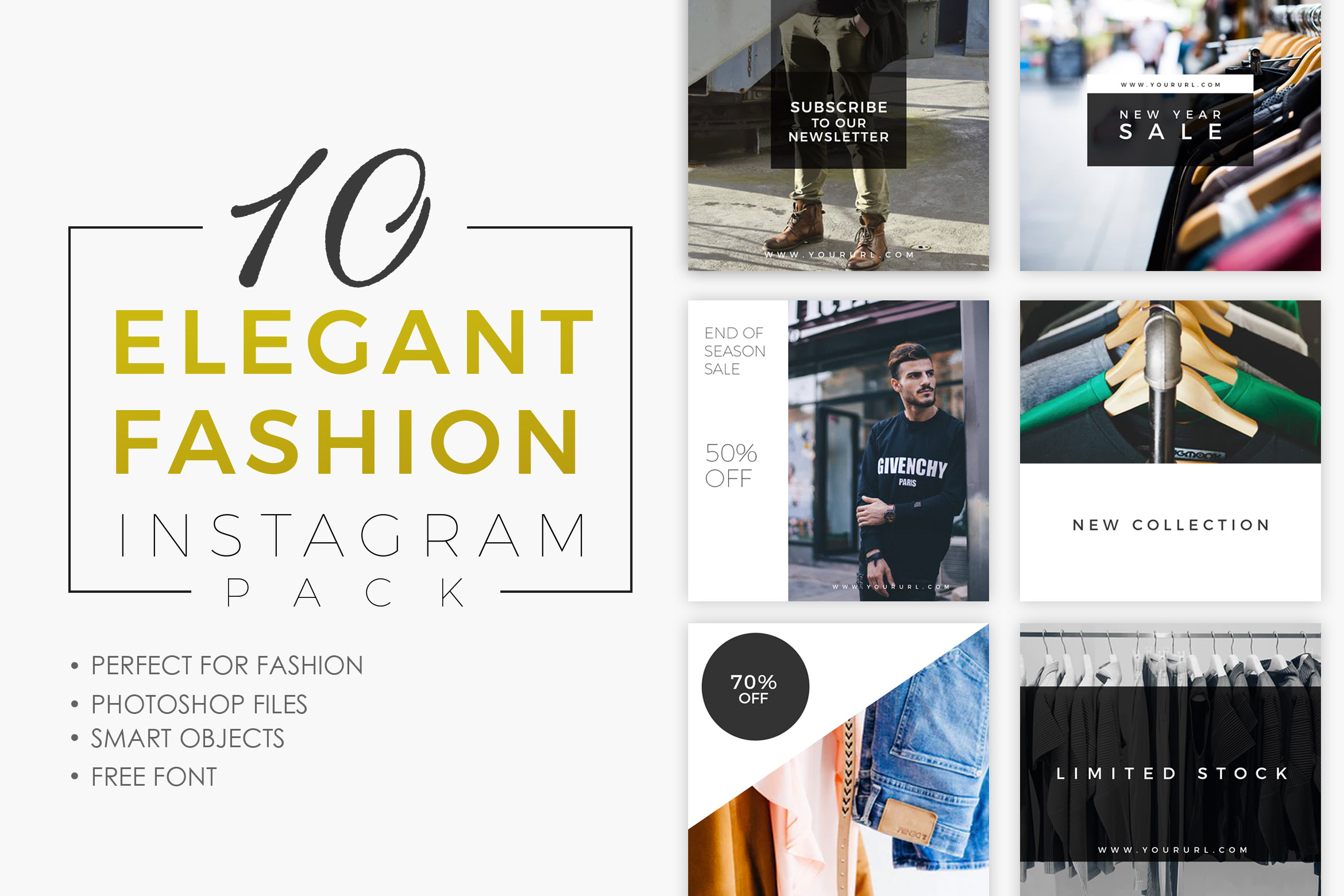 10 Elegant Fashion Instagram Pack Graphic Graphic Templates By storictype