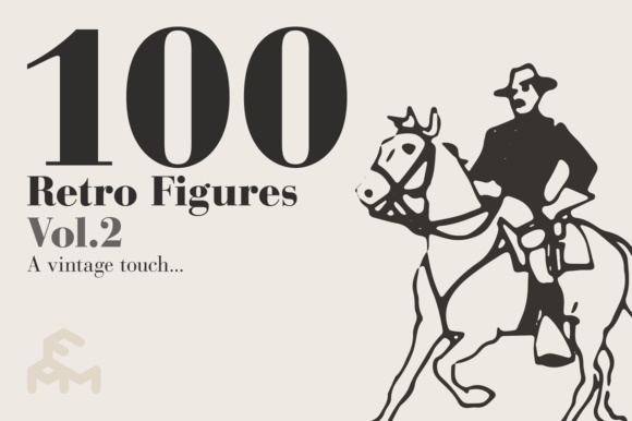 Print on Demand: 100 Retro Figures - Vol.2 Graphic Illustrations By pfmartini