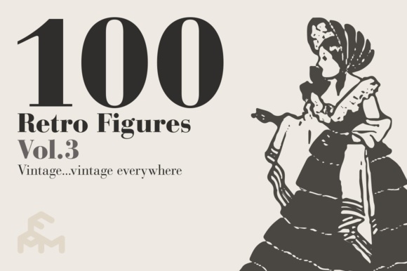Print on Demand: 100 Retro Figures - Vol.3 Graphic Illustrations By pfmartini