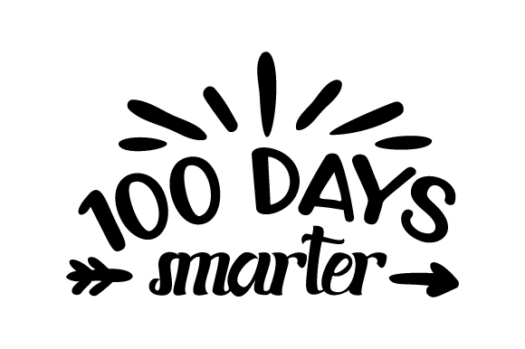 Download Free 100 Days Smarter Svg Cut File By Creative Fabrica Crafts for Cricut Explore, Silhouette and other cutting machines.
