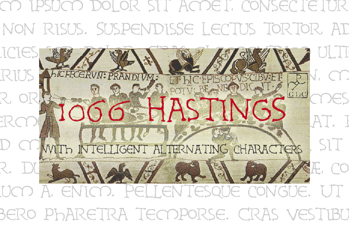 1066 Hastings Font By GLC Foundry