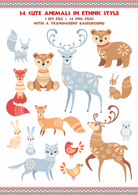 Print on Demand: Northern Woodland - Animals and Plants in Ethnic Style Graphic Illustrations By Olga Belova - Image 2