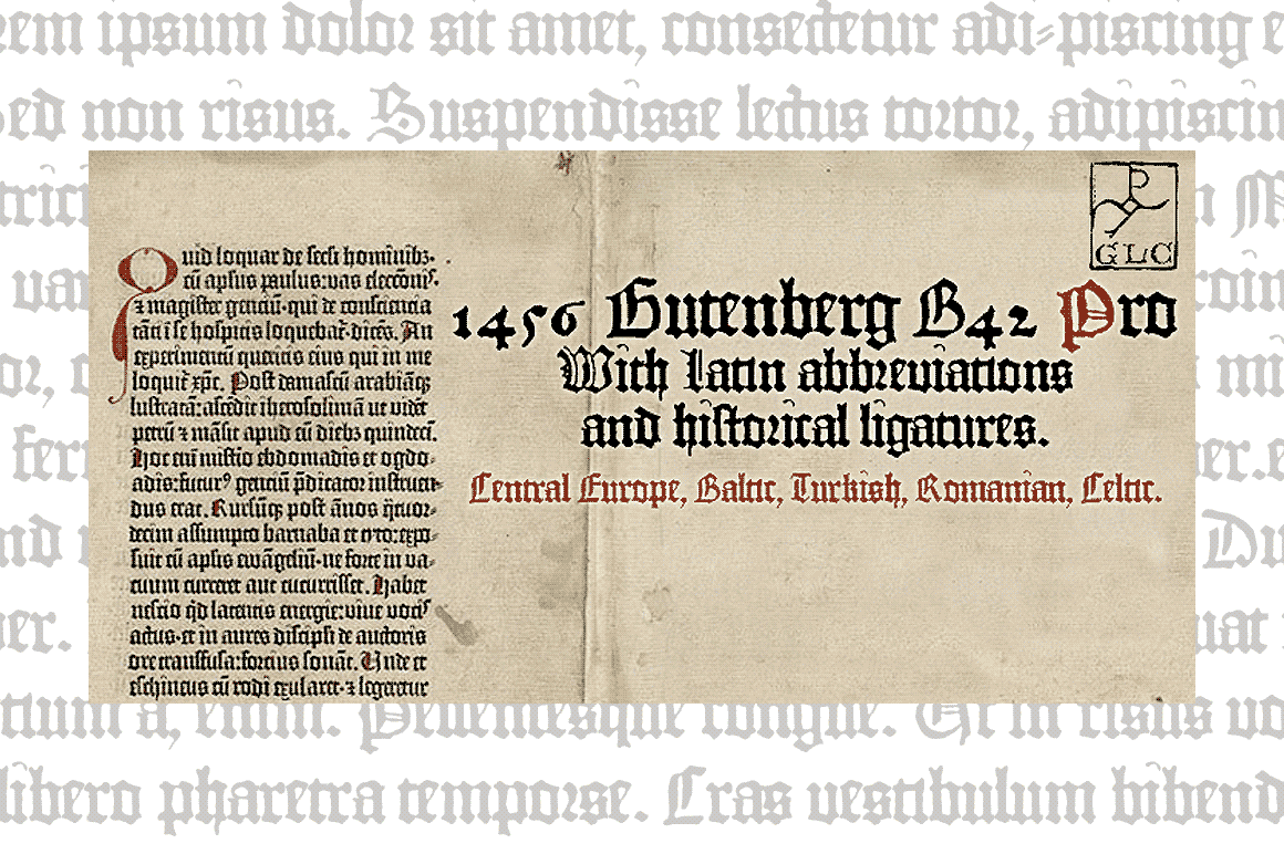Print on Demand: 1456 Gutenberg B42 Pro Blackletter Font By GLC Foundry